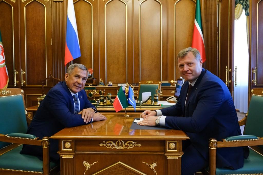 Президент Татарстана видит большой потенциал в Астраханской области