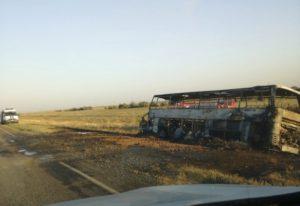 Автобус дотла сгорел по дороге в Астрахань