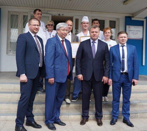 Новое медицинское оборудование железнодорожной больницы презентовали в Астрахани
