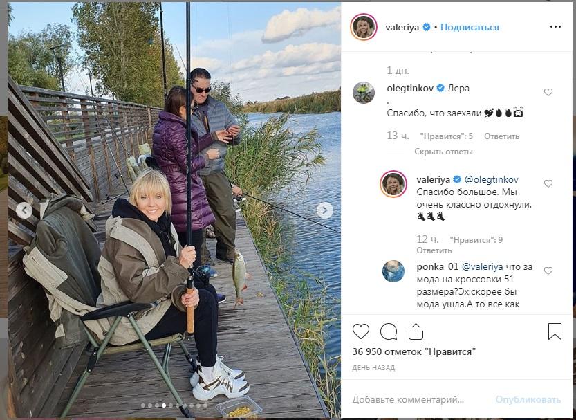 Олег Тиньков поблагодарил Валерию за выбор астраханской базы отдыха