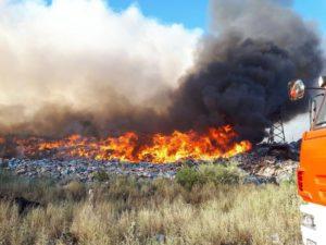 На свалке в Фунтово зафиксировано 8 очагов возгорания