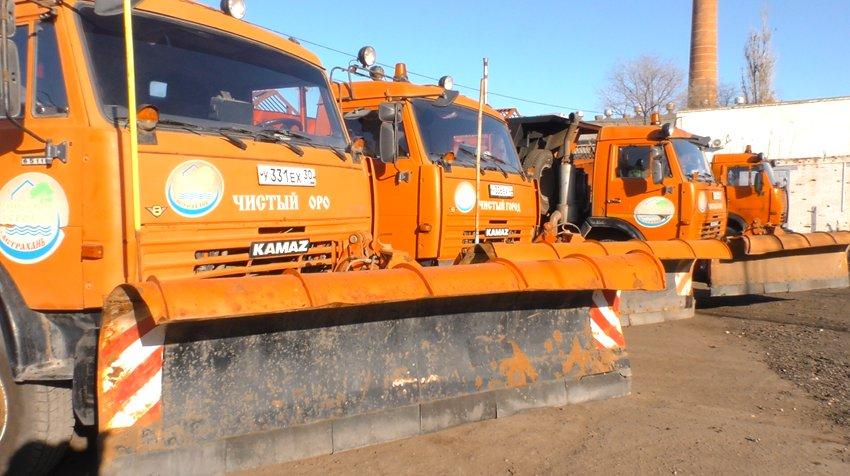 Астраханские коммунальщики уже готовы к уборке снега