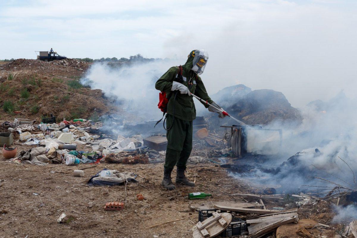 Вновь тлеет мусорный полигон у села Фунтово