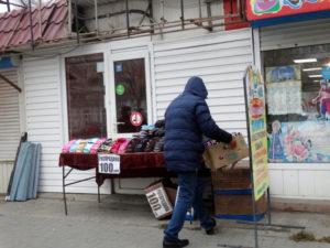 Полицейские прогнали торговцев на Кировском рынке