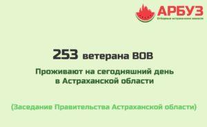Цифра дня: В Астраханской области осталось 253 ветерана войны
