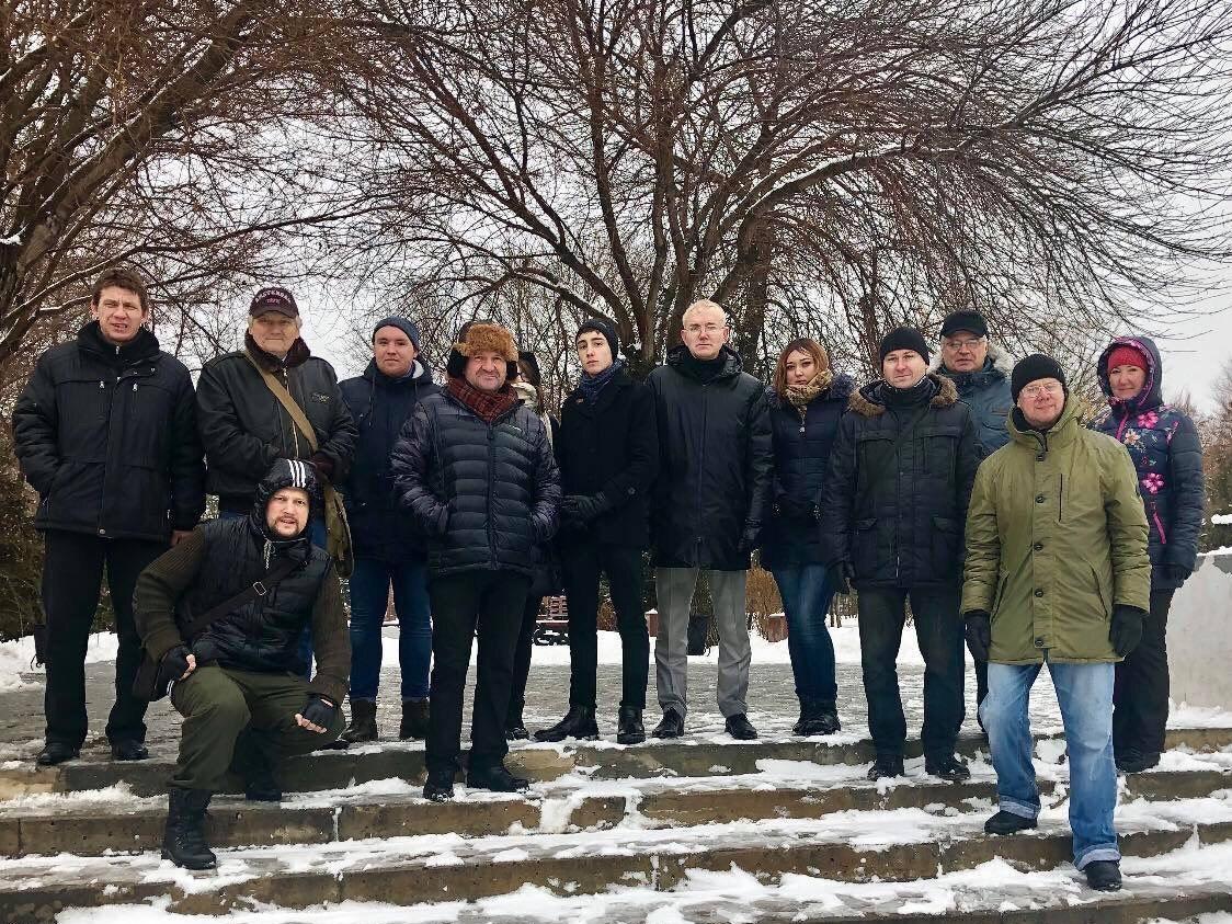 Левые Астрахани посетили места революции