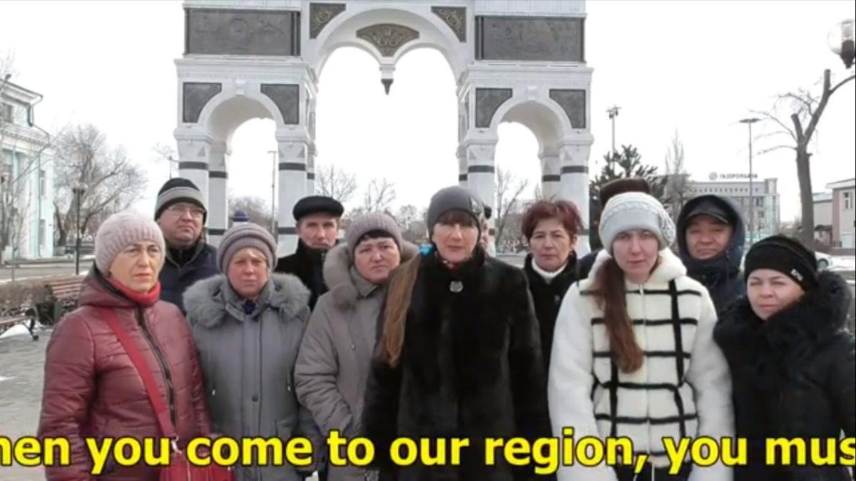 Защитники троллейбуса обратились к астраханскому губернатору на двух языках