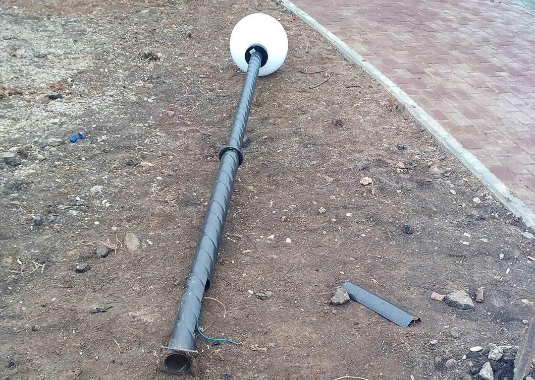 Ремонтные работы в парке III Интернационала приняли за погром