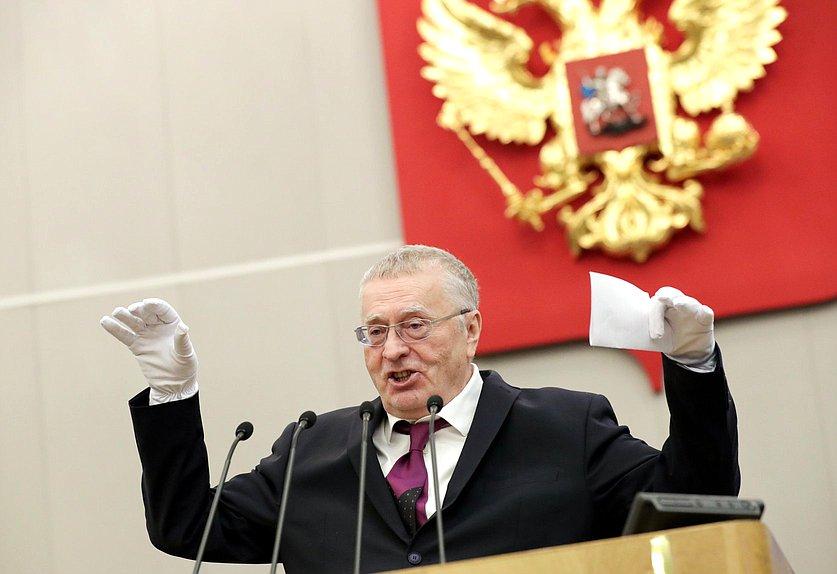Жириновский призвал провести досрочные выборы в Госдуму