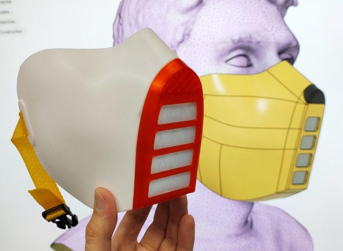Астраханский инженер распечатал на 3D-принтере многоразовую медицинскую маску