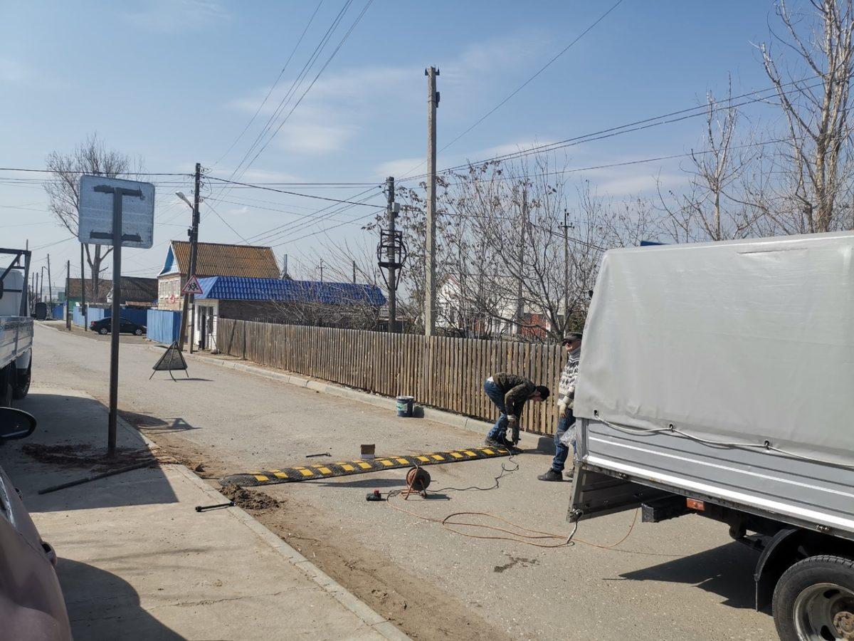 В Наримановском районе на опасном участке установили две искусственные неровности