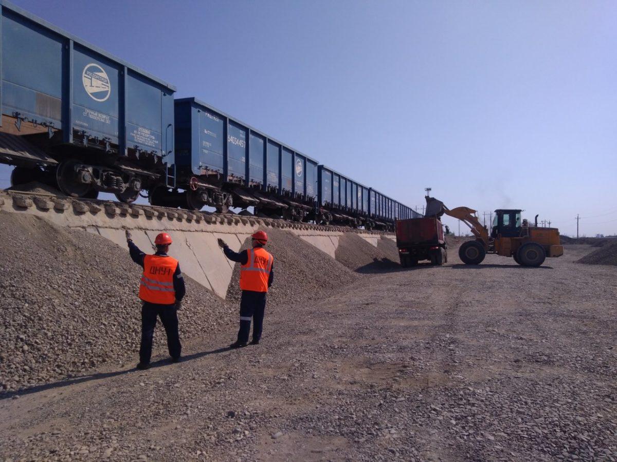 Более 200 тыс. тонн щебня выгружено на станции Трусово с начала года