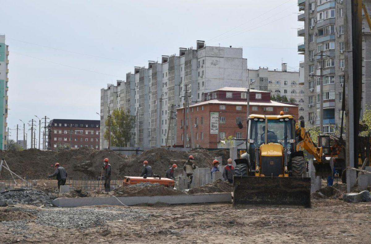 В Астрахани строят муниципальный жилой дом