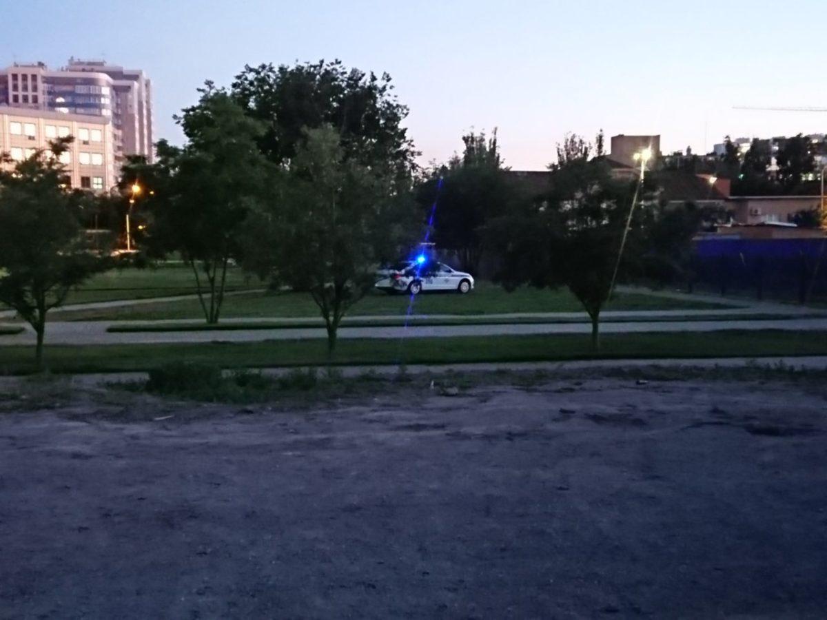 Полиция объяснила выезд машины ДПС на газон возле Лебединого озера