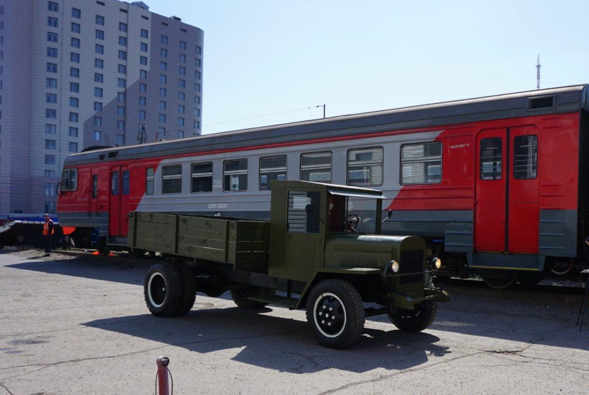 Астраханские железнодорожники восстановили ретрогрузовик ЗИС-5В