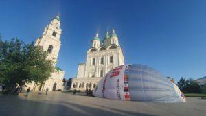 Запуск аэростата с иконой в Астрахани сняли на видео