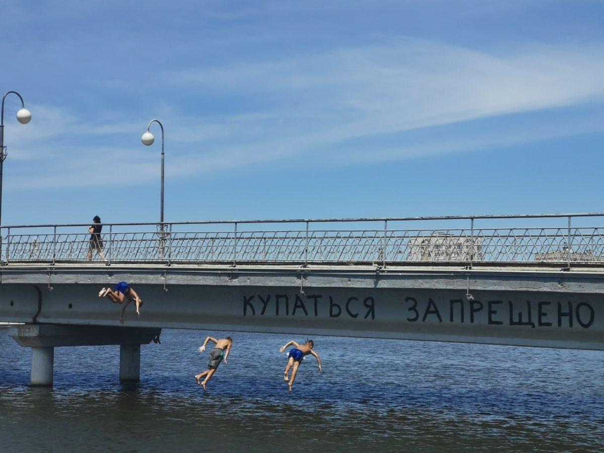 Фото дня: купаться запрещено