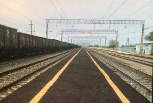 На остановочном пункте Бузанский обновлена пассажирская платформа