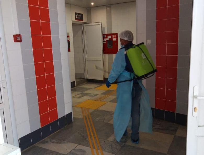 На железнодорожных вокзалах Астрахани и Верхнего Баскунчака проведена повторная дезинфекция