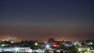 Над Астраханью сфотографировали летящую комету