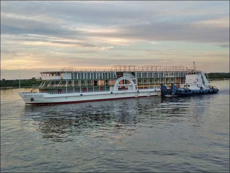 Речной теплоход «Золотое кольцо» перегнали из Астрахани в Нижний Новгород для достройки