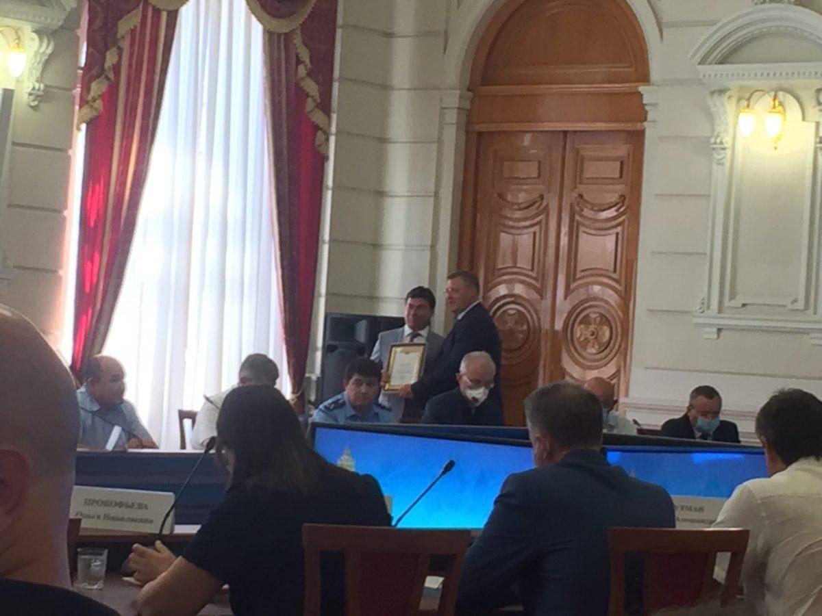 Руководители ЦИК Астраханской области получили награды