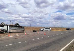 Серьезное ДТП под Астраханью, пострадали пять человек