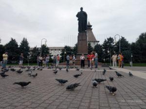 В Астрахани прошло кормление голубей