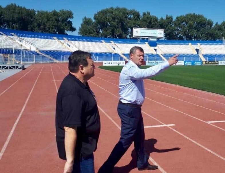 Игорь Бабушкин лично проверил готовность Центрального стадиона