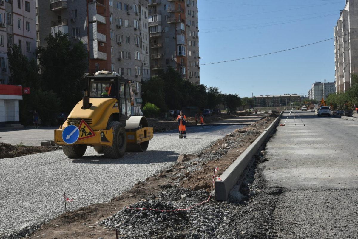 В Астрахани активно строят дорогу между Куликова и Спутником