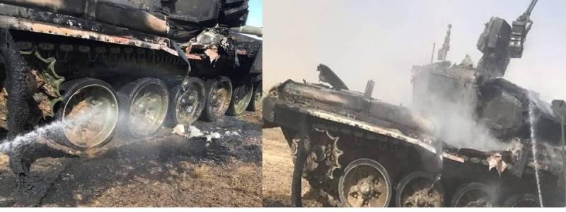 СМИ: на астраханском полигоне во время учений случайно повредили танк