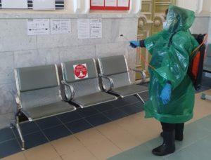Регулярная комплексная дезинфекция проводится на всех железнодорожных вокзалах ПривЖД