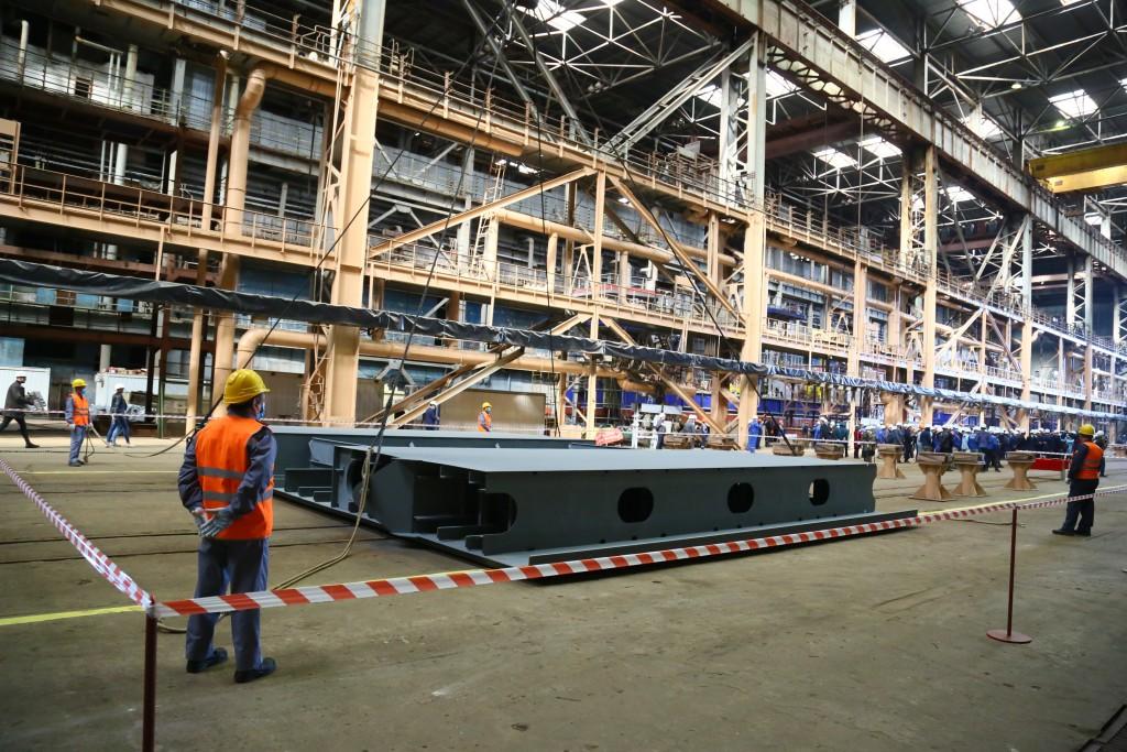 На астраханском судозаводе «Лотос» начали строить еще два земснаряда для ГТЛК