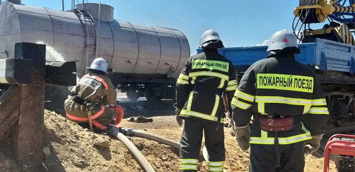 Пожарные поезда Приволжской железной дороги 14 раз выезжали на тушение природных пожаров летом 2020 года