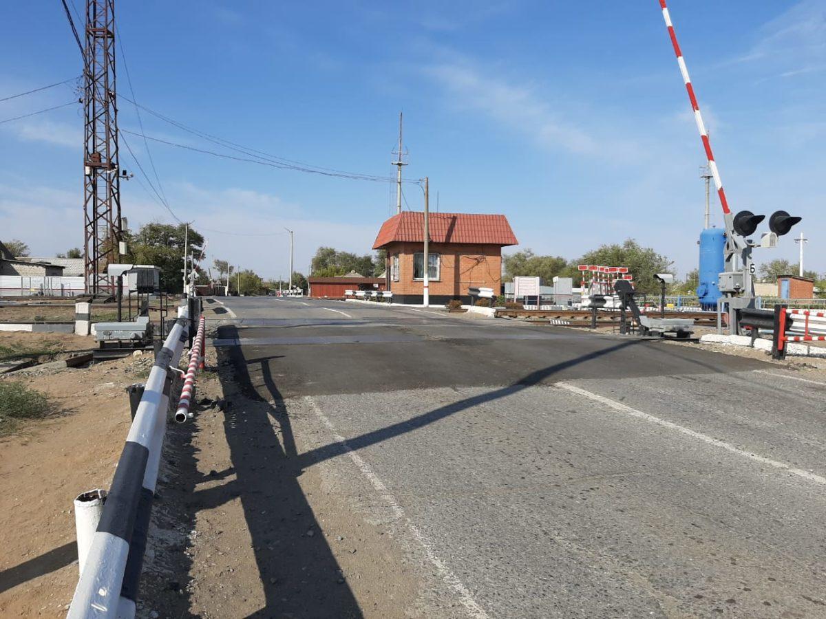 Завершился ремонт железнодорожного переезда в поселке Верхний Баскунчак