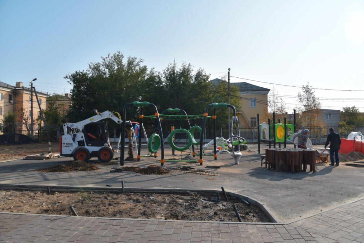 Подходит к завершению реконструкция парка в Жилгородке