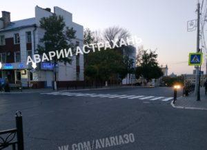 Закрашенный переход возле астраханского кремля снова вернули
