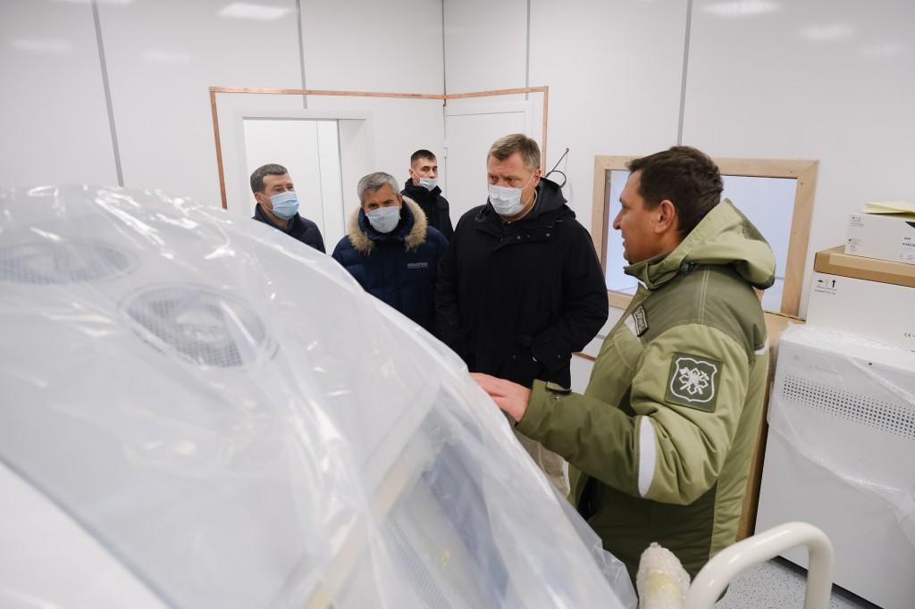 В Астраханской области завершено строительство модульных госпиталей от Минобороны