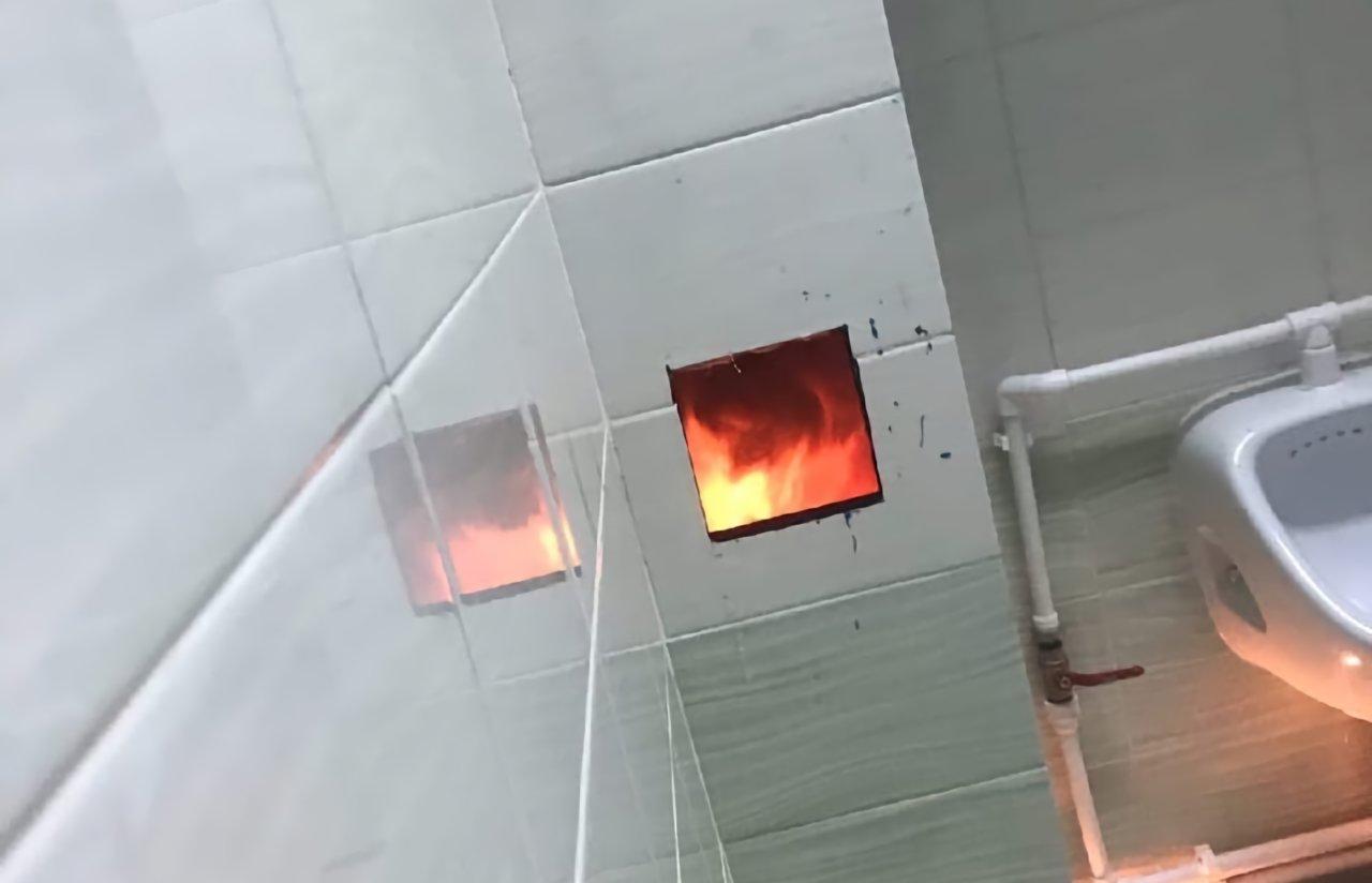 Астраханцы сообщают о возгорании в новой школе села Началово