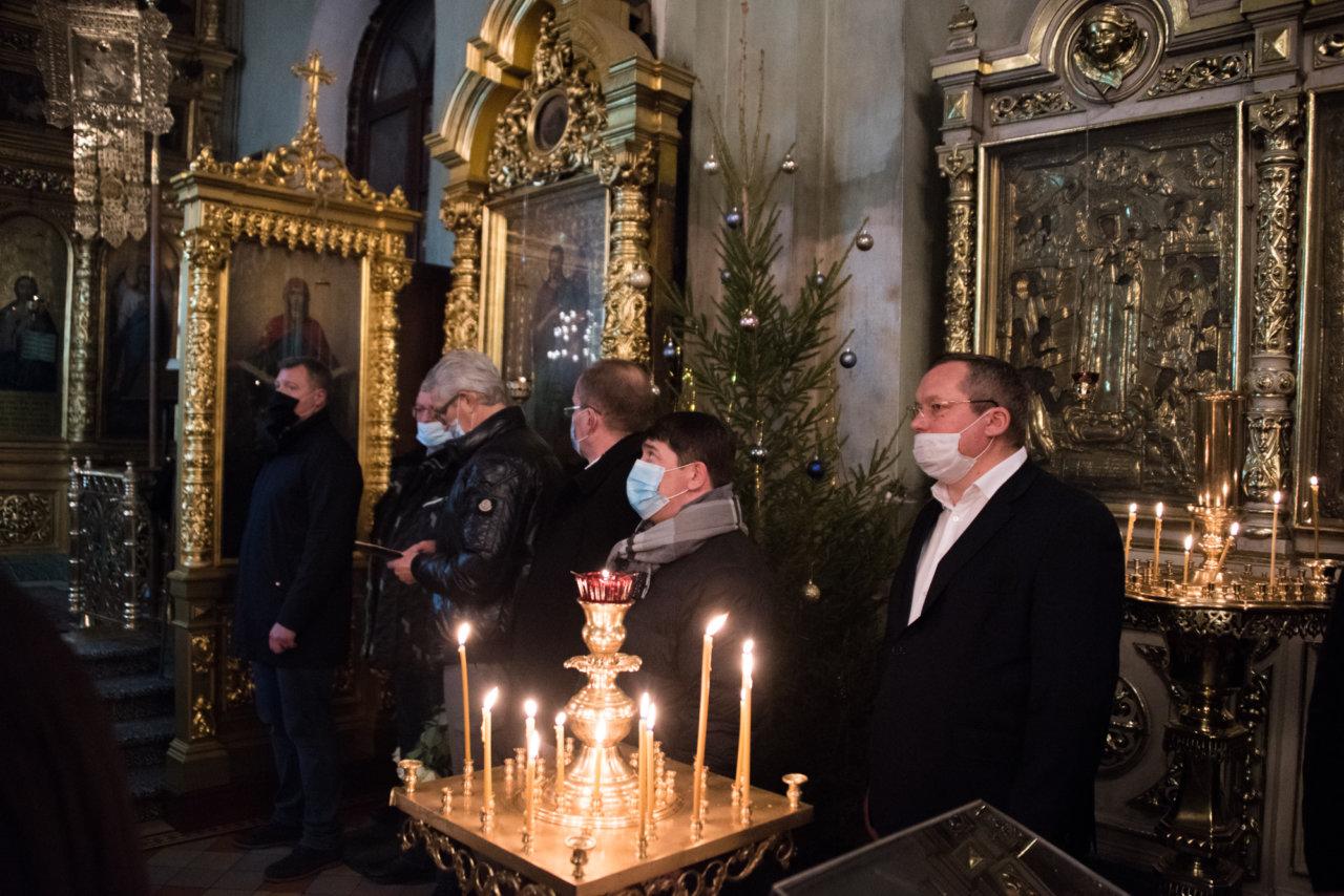 Игорь Мартынов встретил Рождество на торжественной службе