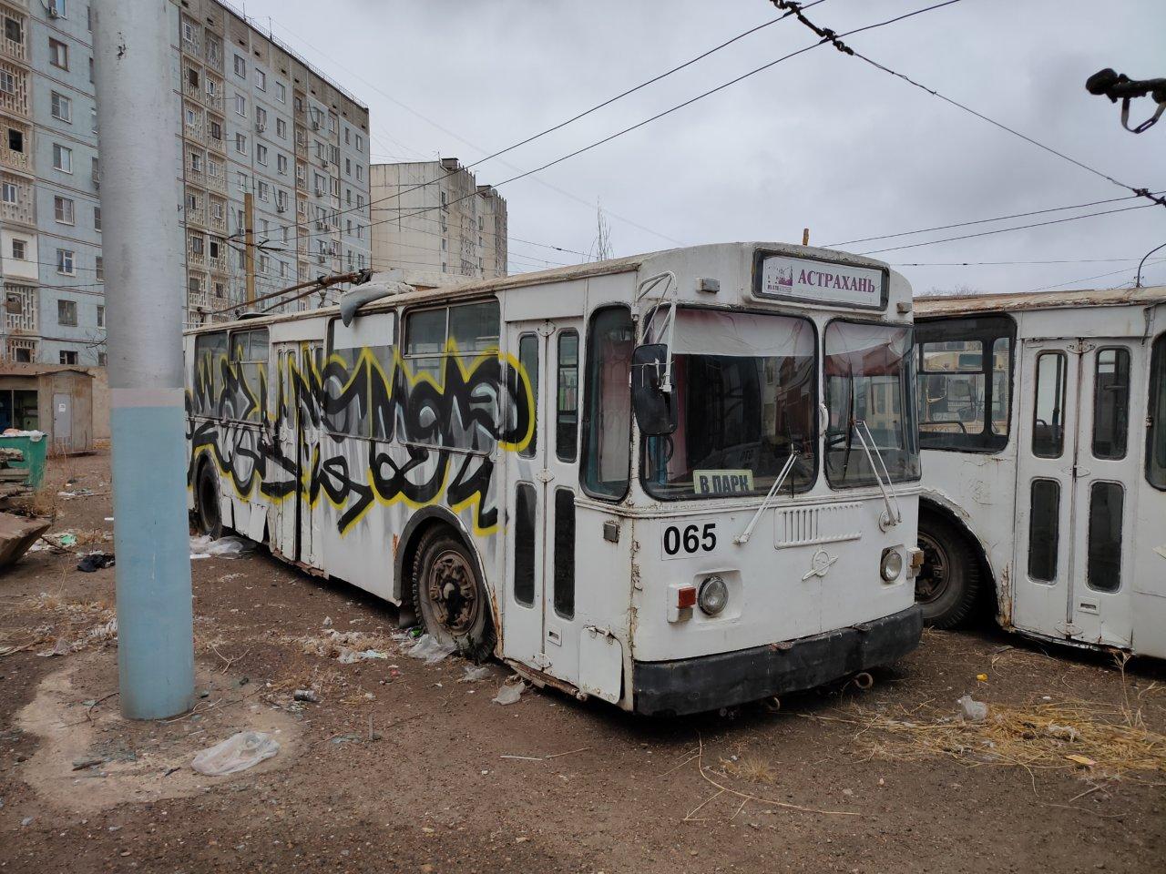 Как астраханский троллейбус встретил 2021 год