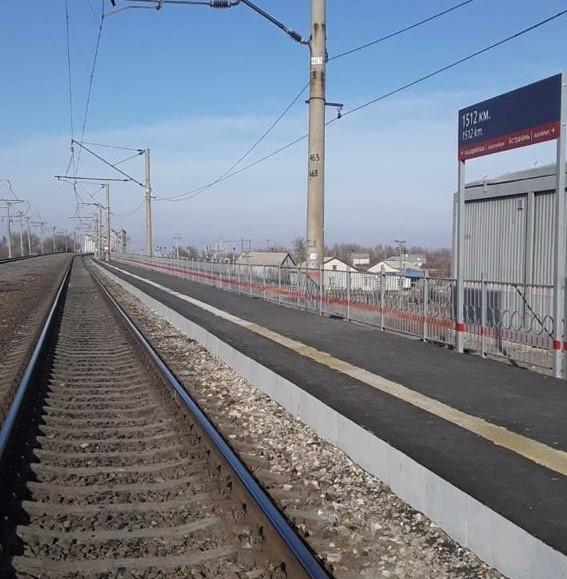 Завершился ремонт пассажирской платформы на остановочном пункте 1512 км Астраханской области