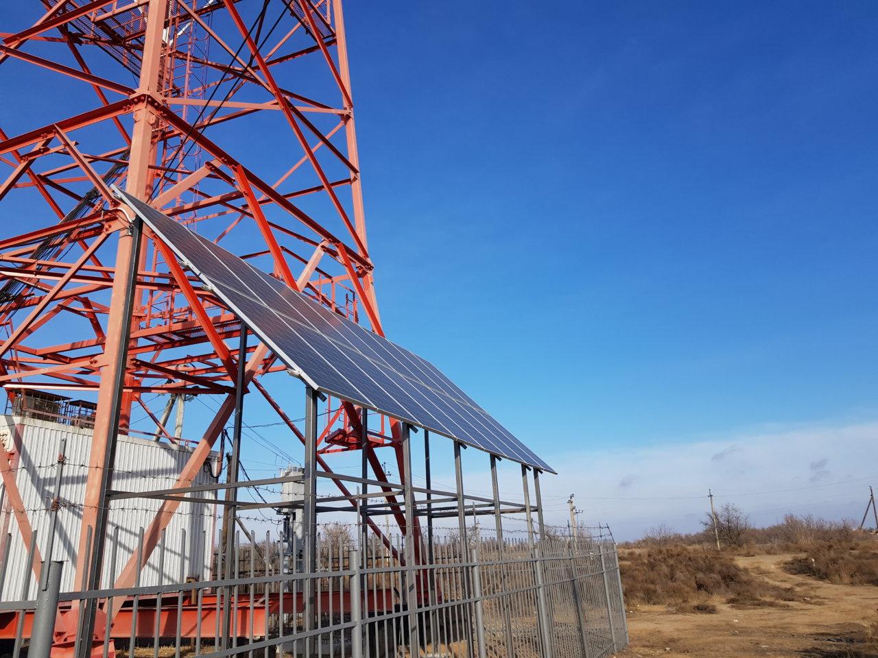 Базовые станции МТС в Астраханской области начнут использовать энергию солнца