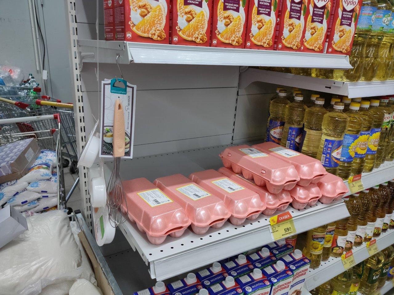 В Астрахани снова дорожают куриные яйца