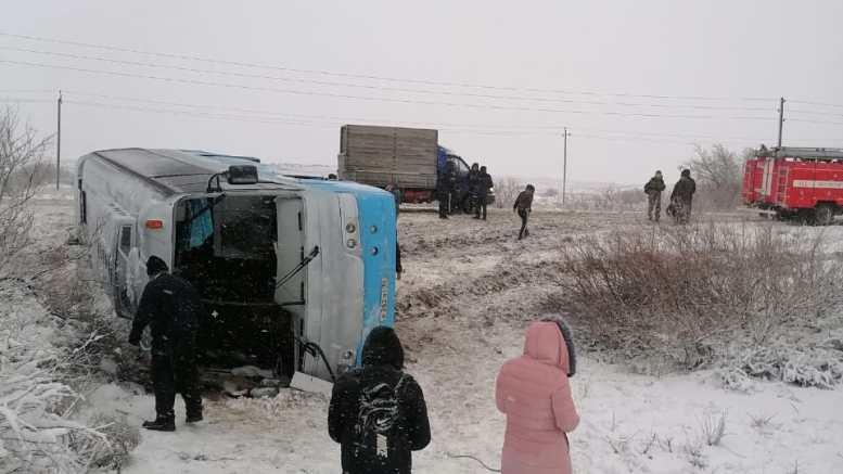 В ДТП под Астраханью пострадали 14 человек