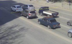 Астраханец остановился перед стоп-линией и все равно получил штраф