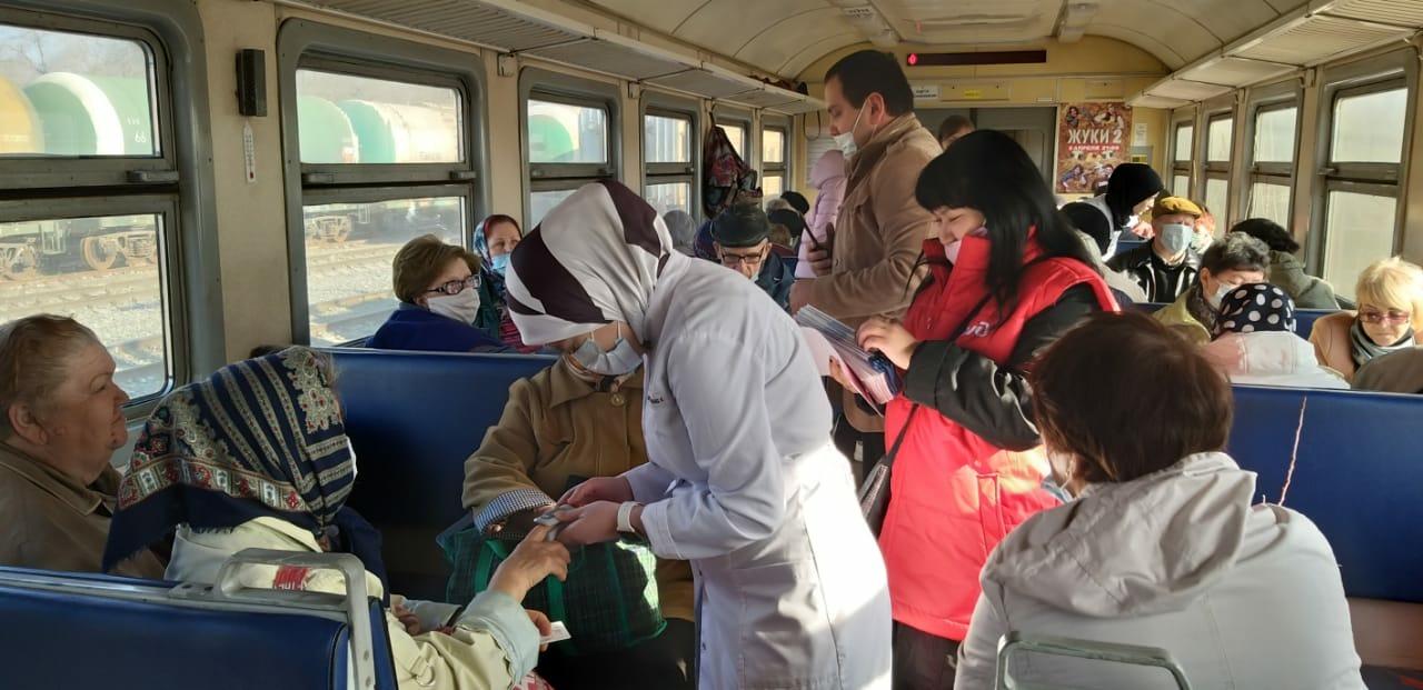 Профилактическую акцию «К здоровому сердцу!» провели в астраханских пригородных поездах