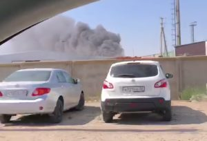 В Астрахани загорелись 12 автомобилей