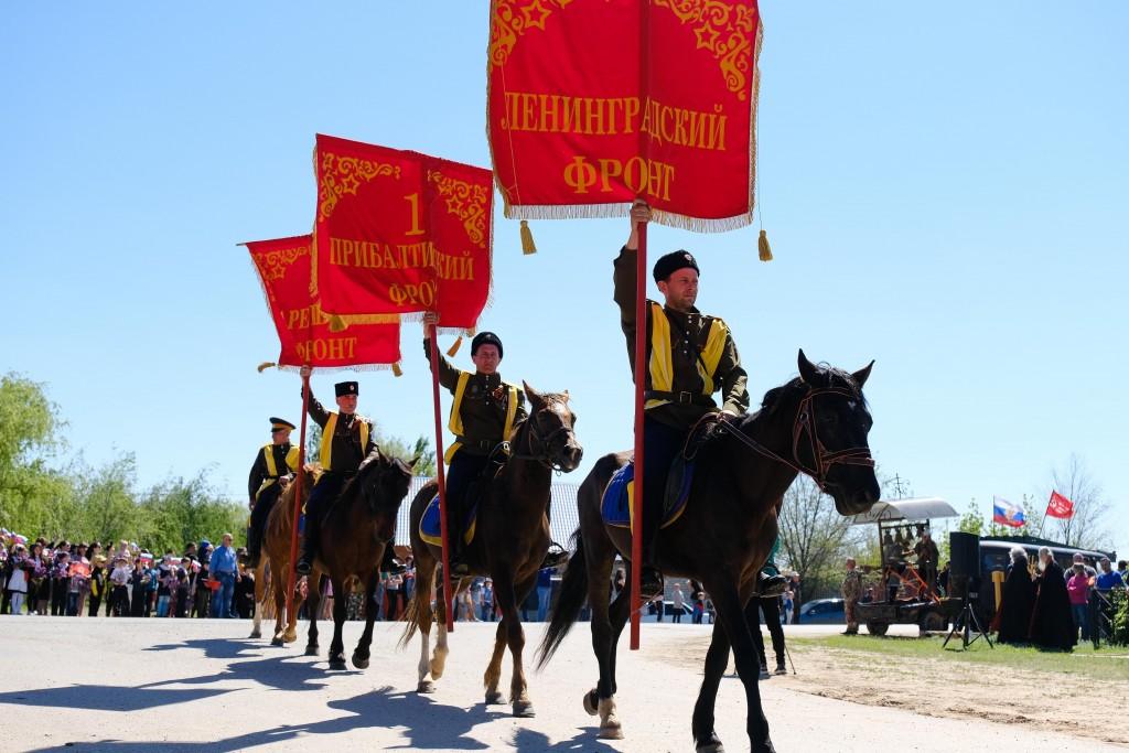 Черноярские казаки прошли 150 километров в честь Дня Победы