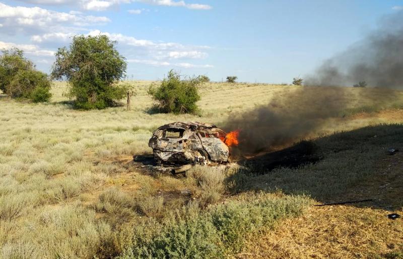 Останки еще одного ребенка нашли в сгоревшей под Астраханью машине
